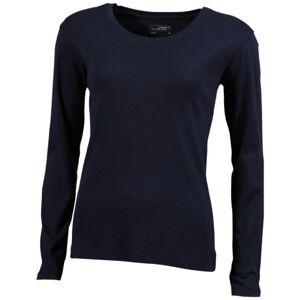 James & Nicholson Women's Langarmshirt Shirt Maternity T, Blue (Navy), (Size: Medium)