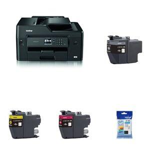 Brother MFC-J6530DW A3 All-in-One Inkjet Printer with Original Inkjet Cartridge Bundle (BRLC3219XLBK XL, BRLC3219XLC XL, BRLC3219XLM XL, BRLC3219XLY XL) - Black, Cyan, Magenta, Yellow