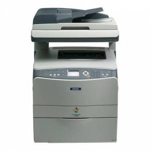 Epson AcuLaser CX11NFT A4 Colour Laser Multifunction Printer Base Model with Fax (128 MB, 2400 RIT, 25ppm, 180 Sheets with ADF and 500 Sheet Paper Cassette)