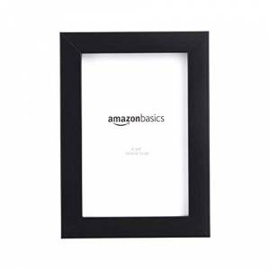 AmazonBasics Photo Frame - 10 x 15 cm, Black, 2-Pack