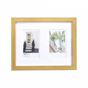 AmazonBasics Photo Frame for use with Instax - 2-Opening - 8 x 5 cm, Brass