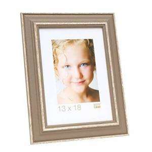 Deknudt Frames Picture Frame, Wood, Taupe, 35x 29x 1.5cm