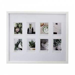 AmazonBasics Photo Frame for use with Instax - 8-Opening - 8 x 5 cm, White
