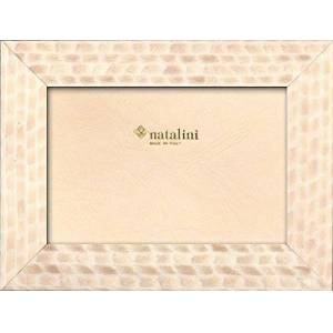 """Natalini Marquetry Photo Frame Made in Italy, Tulipwood, Beige, 4""""X 6"""
