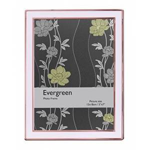Evergreen Frames Evergreen Tarnish Resistant Rose Gold Plated Cream Enamel Photo/Picture Frame 5x7 inch (12x17cm)