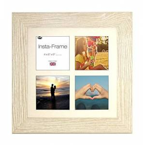 Inov8 Framing Photo Frame Wood Grain Beech 16x16 [4app WHT CORE] 1PK, Brown, 40.64 x 40.64 x 5.08 cm
