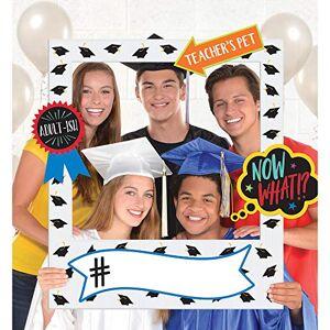 amscan 392093 Giant Graduation Photo Frame-15 Pcs, Paper, Multicolor