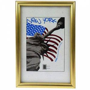 Dorr New York Gold 16x12 Photo Frame, 41 x 3 x 31 cm