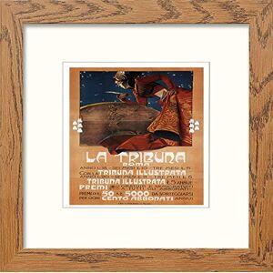 L Lumartos Lumartos, Vintage Poster La Tribuna Contemporary Home Decor Wall Art Print, Dark Wood Frame, 8 x 8 Inches
