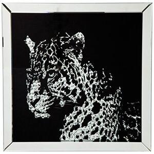 KARE Picture Frame Mirror Leopard, Silver, 11 x 89 x 88 cm