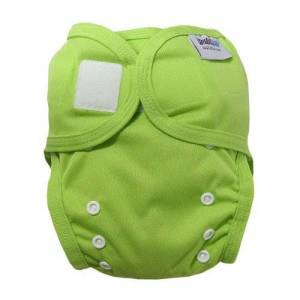 031844l Bambinex One Size Easy On Easy Off Bamboo Nappy Wrap (Lime)
