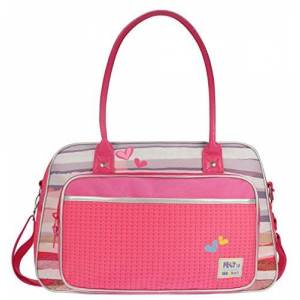 428-7042-2 Prêt 428 7042/Changing Bag, 30 x 48 x 16 cm, DENIMIZED Pink
