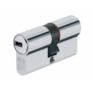 Abus 73717 XP20SN Profile Cylinder Including Security Card and 3 Keys, Nickel, 30/40