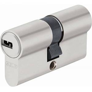 ABUS ec-SNP Cylinder Double Lap for Exterior Doors/Entries, Silver, 45007