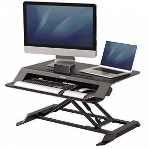 Fellowes Lotus LT Height Adjustable Sit Stand Desk Convertor with Gas Spring