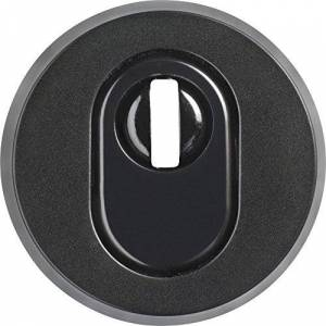 ABUS RHZS415 B7 SB 09405 Dark Brown Lock Rosette with Cylinder Protection for Wooden Door