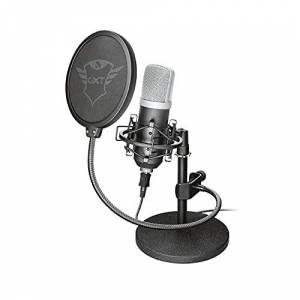 Trust Gaming GXT 252 Emita Studio USB Microphone and Stand for PC, PS4, PS5 and Laptop, USB Connected , Black