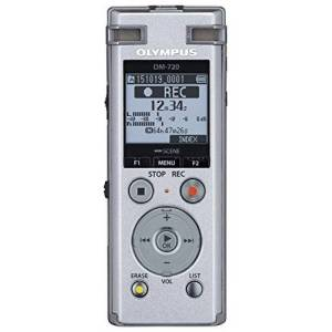 Olympus DM-720 High-Quality Digital Voice Recorder with TRESMIC Microphones, Advanced Playback, Direct USB, Zoom Mic, Intelligent Auto Mode, Noise Cancel, Transcription Mode and 4 GB Memory