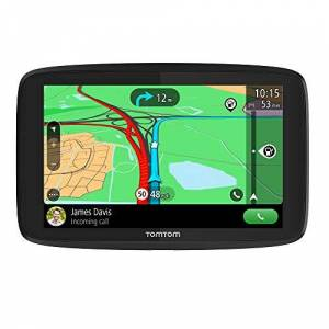 TomTom Car Sat Nav GO Essential, 6 Inch, with Traffic Congestion and Speed Cam Alert Trial Thanks to TomTom Traffic, EU Maps, Updates via WiFi, Handsfree Calling, Click-And-Drive Mount, Black