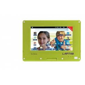 Lexibook Laptab The 2-1 tablet for kids that changes into a netbook - Gaming and learning content Safe internet browser, games, e-books, 7 screen, camera green MFC140EN