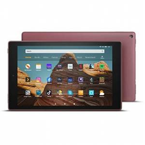 """Amazon Fire HD 10 Tablet 10.1"""" 1080p Full HD display, 32 GB, Plum with Special Offers"""