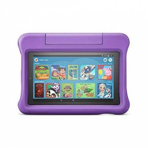"Amazon Fire 7 Kids Edition Tablet 7"" Display, 16 GB, Purple Kid-Proof Case"