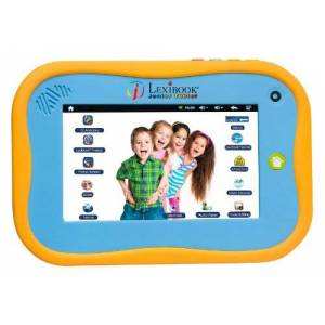 Lexibook Junior Tablet - The Entertaining & Learning Android Tablet for Kids 3-6, sturdy design, front camera, educational and fun content Blue/yellow MFC280EN