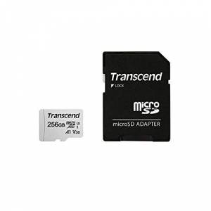 Transcend 256GB microSDXC 300S Class 10 Memory Card with up to 95/45 MB/s (for Smartphones, Digital Camers and Nintendo Switch Consoles) including SD Adapter TS256GUSD300S-A