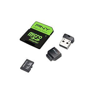 PNY High Performance Kit MicroSDHC Memory Card 16 GB Class 10 UHS-1 U1