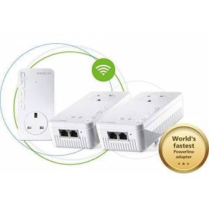 Devolo Magic 2-2400 Wi-Fi ac Whole Home Kit: Stable Home Working, Ultimate Powerline Kit, Mesh Wi-Fi Up to 2400 Mbps Via Powerline, Wi-Fi Ac, Wi-Fi Anywhere, Access Point, 2x Gb Ports, 4k/8k Streaming