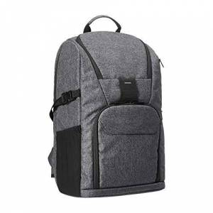 Amazon Basics Camera Backpack for Pro DSLR and Laptop - High Density Water-resistance 840D Polyester - Ash Grey
