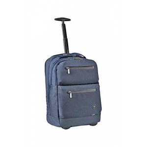 "Wenger 602810 CITYPATROL 15.6"" Rolling Backpack with Tablet Pocket In Navy {32 Litres}"