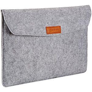 """Amazon Basics 15.4"""" Felt Laptop Sleeve - Light Grey"""