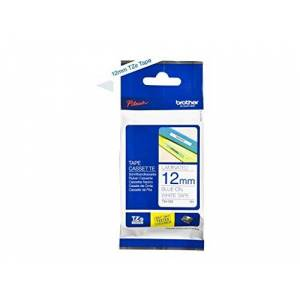 Brother TZe-233 Labelling Tape Cassette, 12 mm (W) x 8 m (L), Laminated, Brother Genuine Supplies - Blue on White