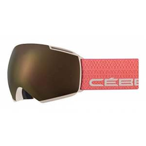 Cébé Unisex's Icone Snow Goggles Matt Sand Salmon Adult Large, Brown/Pink
