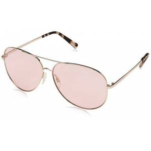 Michael Kors Unisex's Kendall 1026/5 60 Sunglasses, Shiny Rose Gold-Tone/Pink Solid
