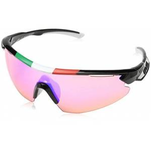 Salice Occhiale Salice 012ITA - Bicycle Goggles, Unisex, Adult, Frame: Black/ Lenses: Pink, One Size