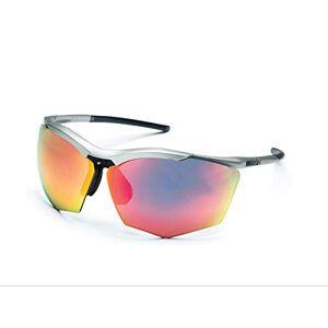 Rh+ Zero Rh+ Sunglasses Super Stylus, Goggles/Masks Sportglasses Permanent Unisex – Adult, Smoke Flash Silver/Pink + Orange, ONE