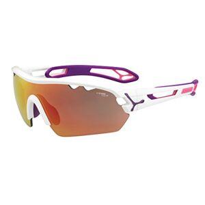 Cébé S'Track Mono Sunglasses, Shiny White/Pink, Medium