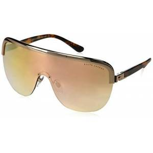 Ralph Lauren Women's 0RL7057 93366F 42 Sunglasses, Rose Gold/Mirrorgradientrosegold