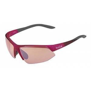 Bolle Brands Ltd. B-CLEAR Trivex Men's Bolle Breakaway Modulator Rose Gun Oleo AF Sunglasses-Shiny Pink/Grey, Medium/Large