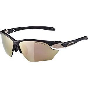 ALPINA Women's Twist Five HR S Nights.matt CMRG+ Sports Glasses, Nightshade matt-Sepia/Rose-Gold, one Size