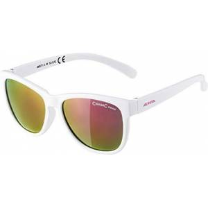 ALPINA Girls' Luzy Sunglasses, White/Pink, One Size