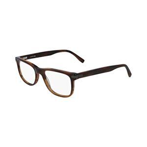 Lacoste L2841 Acetate Sunglasses Striped Brown Unisex Adult, Multicolor, Standard
