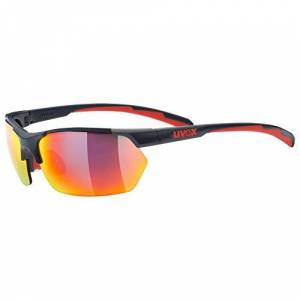 uvex Unisex-Adult, sportstyle 114 sports glasses, grey red, one size