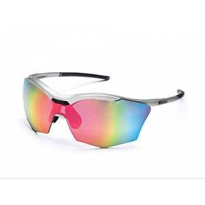 Rh+ Zero Rh+ Sunglasses Ultra Stylus, Goggles/Masks Sportglasses Permanent Unisex - Adult, Smoke Flash Silver/Pink + Orange, ONE