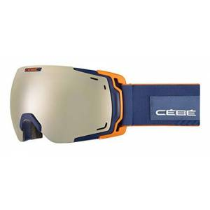 Cébé Unisex's Fateful Snow Goggles Matt Dark Blue Orange Amber Flash Gold Adult Large