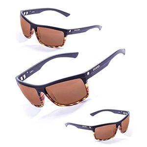 Ocean Sunglasses John Sunglasses, Unisex, Black (Matte Black and Tortoise/Brown), One Size