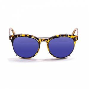 Ocean Sunglasses OceanGlasses - Mr.Franklin - Polarized Sunglasses - Frame : Brown - Lens: Revo Blue (71001.2)