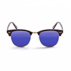 Ocean Sunglasses OceanGlasses - Mr.Bratt - Polarized Sunglasses - Frame : Brown - Lens: Revo Blue (70001.2)